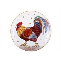 Декоративная тарелка рис. Пестрый петушок, ф. Эллипс