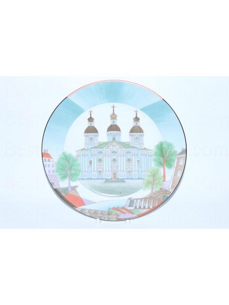 Декоративная тарелка рис. Собор Николы Морского, ф. Европейская