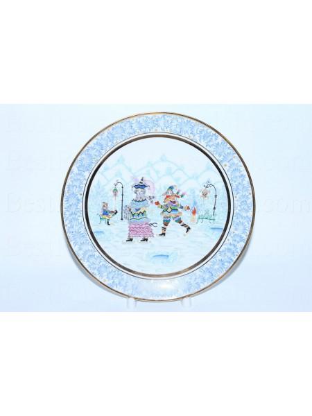 Декоративная тарелка рис. Зимняя фантазия 2, ф. Эллипс