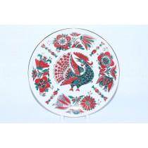 Декоративная тарелка рис. Красная Птица, ф. Эллипс