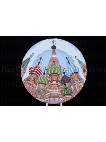 Декоративная тарелка рис. Храм Василия Блаженного, ф. Европейская