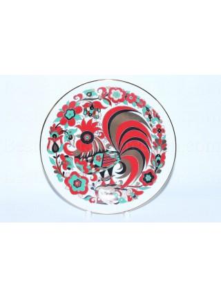 Декоративная тарелка рис. Петушок, ф. Эллипс