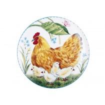 Декоративная тарелка рис. Курочка и цыплята, ф. Эллипс