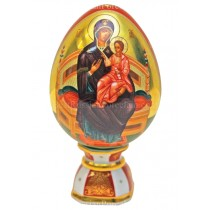 Яйцо пасхальное рис. Матерь Божья(Всецарица), форма Яйцо