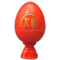 Яйцо пасхальное рис. Красное, форма Яйцо