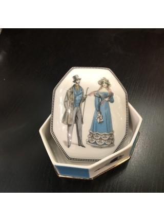 Шкатулка для украшений рис. Modes de Paris 2, форма Граненая