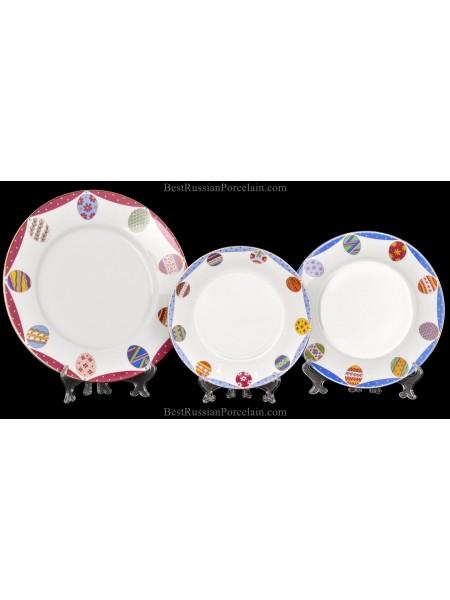 Набор из 3 тарелок рис. Аметист, форма Европейская