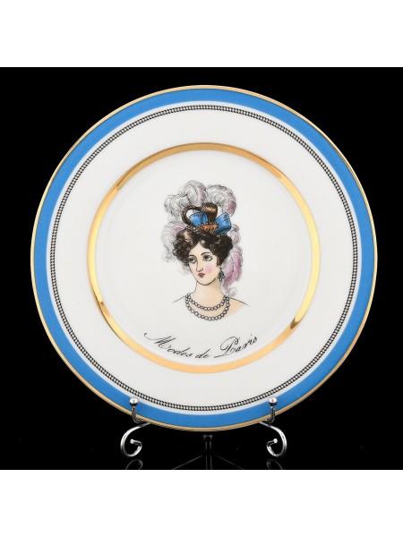 Одна десертная тарелка рис. Modes de Paris 3, форма Европейская