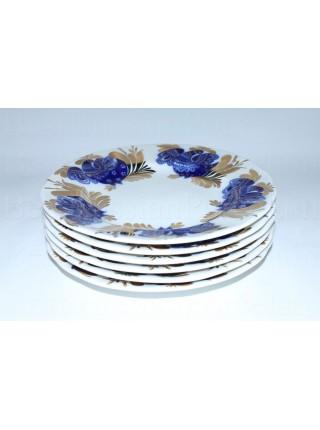 Набор из 6 десертных тарелок рис. Золотой сад, ф. Тюльпан