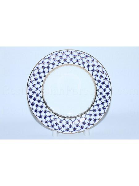 Десертная тарелка рис. Кобальтовая Сетка, ф. Волна