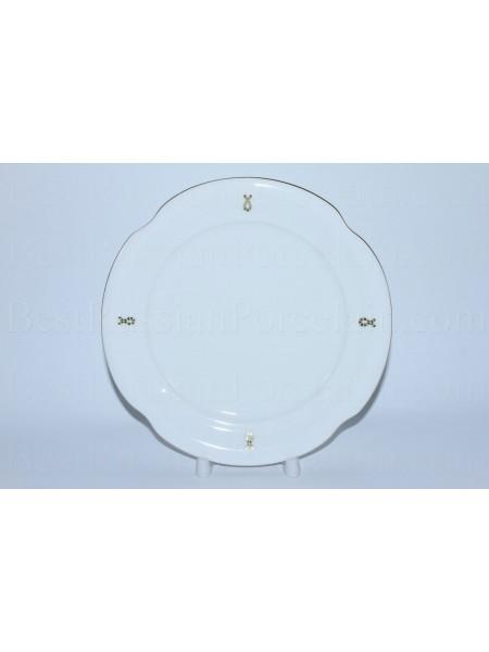 Одна десертная тарелка рис. Петельки, форма Наташа