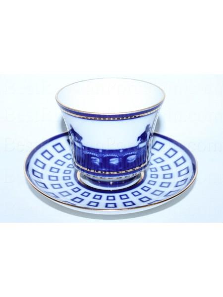 Чашка с блюдцем рис. Аничков мост, форма Банкетная