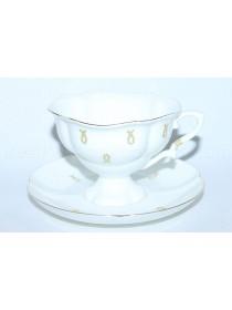Чашка с блюдцем рис. Петельки, форма Наташа