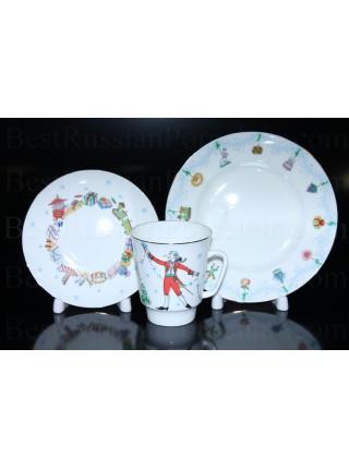 Комплект чашка с блюдцем и десертной тарелкой рис. Балет  Щелкунчик, ф. Майская
