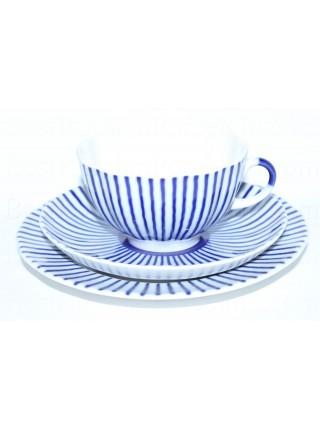 Комплект чашка с блюдцем и десертной тарелкой рис. Французик, ф. Тюльпан