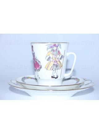 Комплект чашка с блюдцем и десертной тарелкой рис. Балет Спящая красавица, ф. Майская