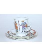 Комплект чашка с блюдцем и десертной тарелкой рис. Балет Дон Кихот, ф. Майская