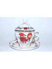 Чайная чашка с крышкой рис. Сувенир, Петушок, ф. Подарочная-2