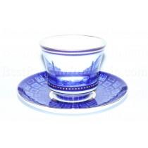 Чашка с блюдцем рис. Египетский мост, форма Банкетная