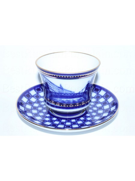 Чашка с блюдцем рис. Банковский мост, форма Банкетная