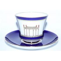 Чашка с блюдцем рис. Классика Петербурга 1, форма Банкетная