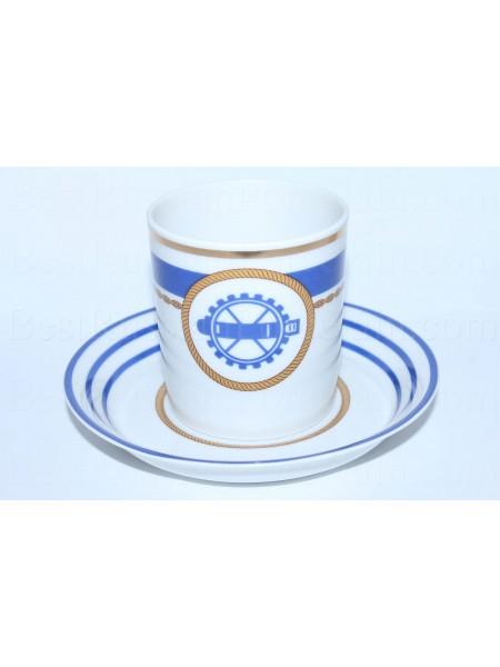 Чашка с блюдцем рис. Кают-компания 2, Торпедист, форма Гербовая